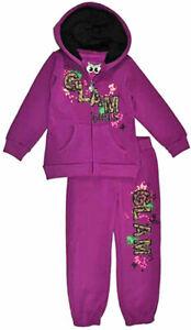 Pinkhouse Infant Girls Purple 2pc Fleece Sweatsuit Size 12M 18M