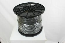 1000 ft RG6 Coaxial Cable Dual Shield 18 AWG Coax Satellite TV Black