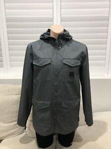 New Mens DC Snow Winter Jacket Shell Grey Medium Lined [S1]