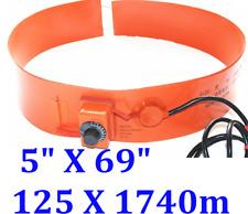 """5"""" X 69"""" 125 X 1740mm 1000W w/ Control Tank Oil Barrel Drum Band Heater"""