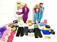 Vintage 1990's Barbie Lot w/ Vintage Ken w/ Clothing and Accessories