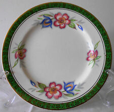 Side Plate Royal Green With Gold Pattern Pansy Design 1930-1937