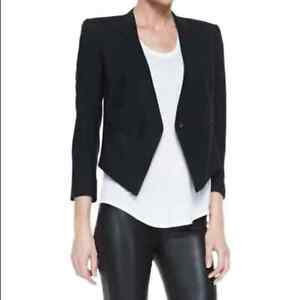 Helmut Lang High-Low Cut Cady Blazer in Size 6
