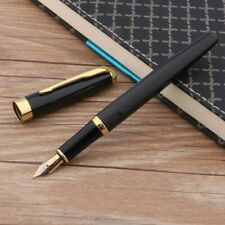 Advertising Famous Black Fountain Pen Baoer 388 Gold Trim Arrow Clip