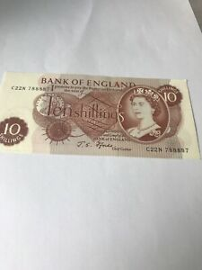 10 shilling banknote Uncirculated
