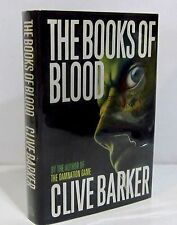 THE BOOKS OF BLOOD by CLIVE BARKER HCDJ - FIRST ED / FIRST PRINT - SIGNED COPY