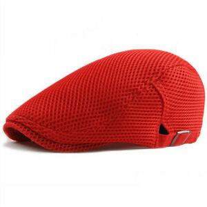 Men's Summer Newsboy Ivy Gatsby Cap Mesh Cabbie Golf Driving Sun Flat Beret Hat