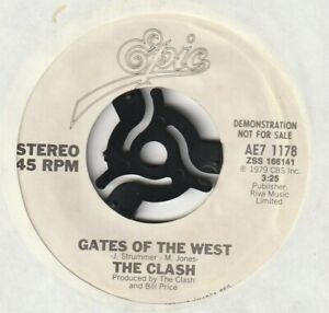 Punk 45 - THE CLASH Gates of the west / Groovy times Epic AE7 1178 US promo 1979