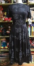 VINTAGE 70s DOES 30s FLOATY LAYER SKIRT DRESS DISCO STUDIO 54 SIZE 10 GLAM ROCK