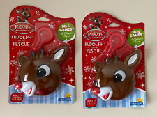 2 New Rudolph (Red Nosed Reindeer) To The Rescue Mini Card Game + Sticker Book