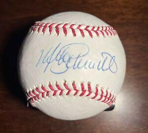 Mike Schmidt Signed OML Baseball Mounted Memories COA Philadelphia Phillies HOF