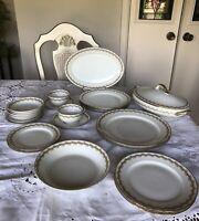 Antique GDA  Limoges France Incomplete Dinner Set- 24 Pieces