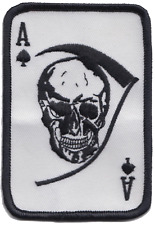 US Army Vietnam War Ace of Spades Death Card Embroidered Patch ** LAST FEW **