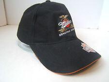 Miller Genuine Draft Beer Harley Davidson Motorcycles One Size Hat Black Cap