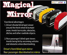 Driver's front blind spot mirror&back passenger disembarkation rear-view mirror