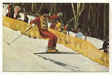 Wayne Wong Freestyle Skiing Championships WATERVILLE VALLEY NH Vintage Postcard