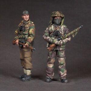 1/35 Resin Figure Model Kit British Soldiers Snipers WWII Unpainted Unassamble