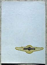ASTON MARTIN LAGONDA Car Sales Brochure 1975