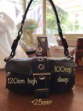 100% Authentic Prada leather calf skin Bordeaux shoulder bag handbag