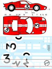 1/12 DECAL NR. 3 FORD GT40 LE MANS '66 TRUMPETER Gurney & Grand