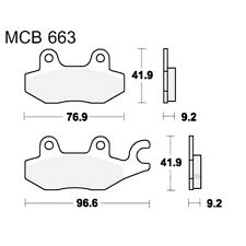 Scooter Brake Pads TRW MCB663Ec For Hyosung MS3 125 i 2008 - 2010