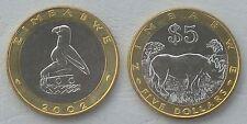 Simbabwe / Zimbabwe 5 Dollars 2002 p13 unz.