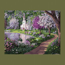 DIY Paint By Number Kits On Canvas Digital Lake Park Oil Painting Home Decor