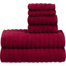 Mainstays Texture Quick Dry 12-Pc BathTowel Set Red Sedona