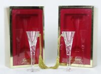 GORHAM Crystal CHRISTMAS ORNAMENTS 2 Saint Anne Champagne FLUTES Glasses