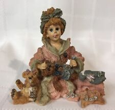 Boyds Bears ~ Caitlan with Emma & Edmund.Diapering Baby #3525 Diaper Pins