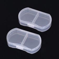 2x transparent medicine drug pill box makeup storage case container pill case ^P