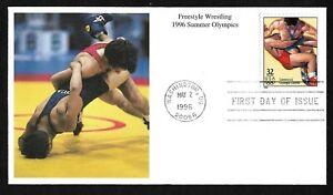 #3068f 32c Olympics '96 Atlanta -Freestyle Wrestling- Mystic FDC