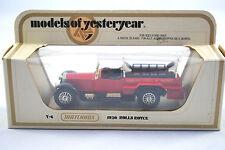 Matchbox of Yesteryear No:Y-6 1920 ROLLS-ROYCE FIRE ENGINE Ladder Black Base MIB