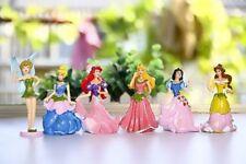 6x Princess Snow White Cinderella 9cm Figure Cake Topper Kid Toy Xmas Gift