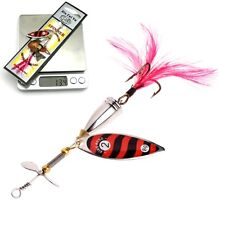 Spinner Fishing Lure Crankbait Sequin Spoon Metal Artificial Feather Bait Hook