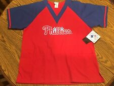 Philadelphia Phillies MLB Unisex Red/Blue Scrub Top, Size Small - New With Tags