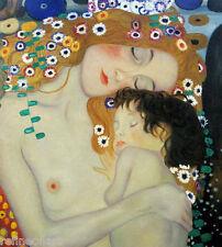 "Art Nouveau Gustav Klimt Mother and Child Canvas GICLEE Print 20""x24"""