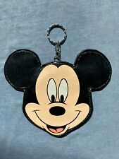 Disney Mickey Mouse Head Coin Pouch Purse with Zipper and Key Ring