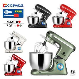 6.2QT 7QT Stand Mixer 6-Speed Electric Kitchen Tilt-Head Dough Hook Whisk Beater