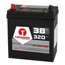 Autobatterie 12V 38Ah 320A/EN Dünnpol Japan Asia + Pluspol links Batterie 53522