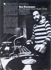 TOM SAVARESE story - No1 '70 USA disco deejay - bio + pictures on CDR