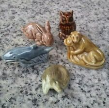 Wade Figurines set of 5 leopard rabbit whale owl and alligator