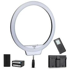 YONGNUO YN608 CRI 95+ 5500K LED Video Ring Light + NP-F750 Battery +USB Charger