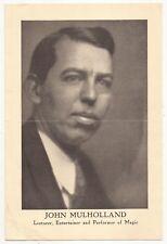 John Mulholland Promotional Flyer