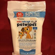 Dog Puppy 60 Ear Eye Face Wipes Gentle Soothing Aloe Lanolin Coconut Vanilla