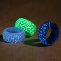 Luminous Resin Ring Glow Inlay Background Fluorescent Glowing Rings Jewelry Gift