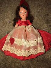 Nancy Ann Storybook Doll Bisque Red Dress Brown Hair 5.5
