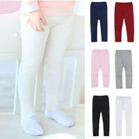 Slim fit Trousers Pants Kids Girls Toddler Casual Knitting Leggings Fashionable