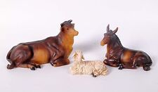 "6.25"" CHRISTMAS NATIVITY SCENES SET ANIMALS ~ COW, DOMKEY And LAMB 3pc Set"