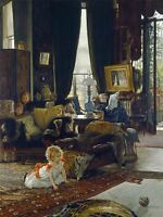 JAMES JACQUES JOSEPH TISSOT FRENCH HIDE SEEK OLD ART PAINTING POSTER BB5779A
